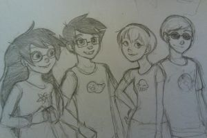 Homestuck Kids by LargM