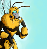 Techno Organic Bumblebee by Crococheese