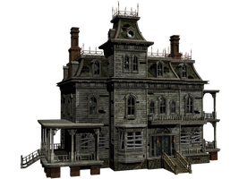Haunted House 04 PNG Stock by Roys-Art