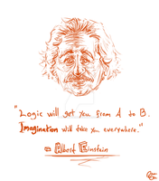 Albert Einstein Quote by Keisarinvaimo