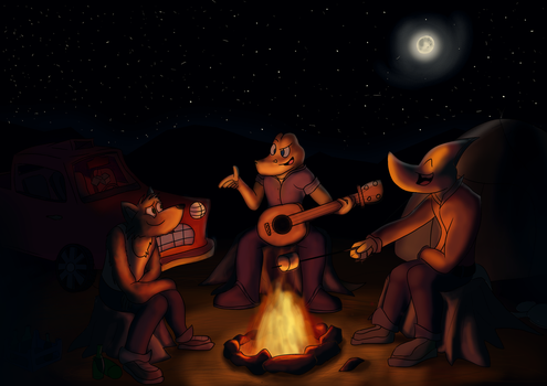 Three guys and a campfire by MRace2010rebirth