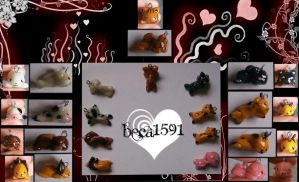 Animal clay designs by Beca1591