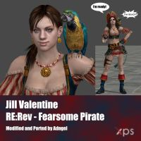 Jill Valentine RERev Fearsome Pirate by Adngel