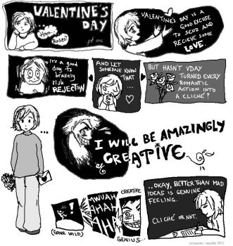 Avoiding Cliches on Valentine's Day by Yayjennies