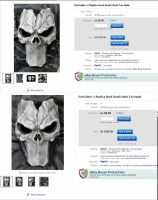 Death Masks on Ebay - Bid now! by Uratz-Studios
