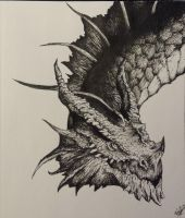 Red Dragon, Dungeons and Dragons by howolf12