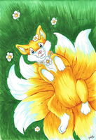 Commission - Nine tails by omfgitsbutter