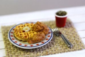 Fried Chicken and Waffles by minivenger