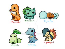 Pokemon Starters by Lindajing