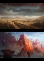 Plains - Mountain Locations by AlynSpiller