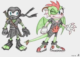 Sonic-OCs: Toxica and Scala by Master-Kankuro