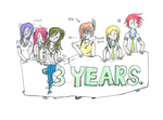 3 Year anniversary (thank you!) by Lenaleekitkat