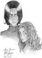 Snape and Hermione by RomulusLupin