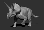 WIP 003 - Triceratops horridus male posed by FabrizioDeRossi