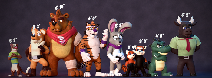 Height Comparison!(Updated) by SmashingRenders