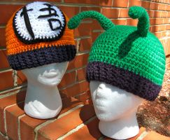 Dragonball Z Beanies by TheCrochetDragon