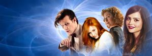 11th Doctor and his girls by TARDIS-Farore