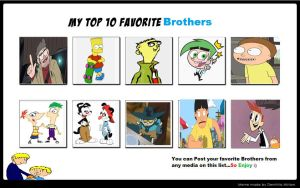 My Top 10 Favorite Brothers by Toongirl18