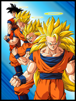 GOKU TRANSFORMATIONS by PhazeN1