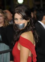 Ashley Greene taped up by ikell