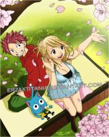Natsu Lucy And Happy by ErzaxTitania