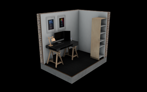 A 3D model of my workspace :) by rasiquiz