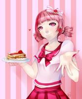 Strawberry Mille-feuille by ran-hime