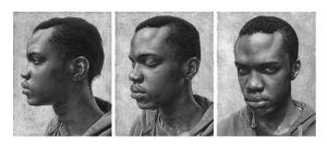 O (triptych) - selected for The BP Portrait Award. by caldwellart