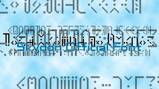 Skydon Official Font by DZ-Aladan
