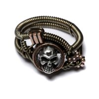 Steampunk Jewellery skull ring by CatherinetteRings