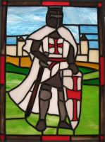 Templar Knight Stained Glass by AutobotWonko