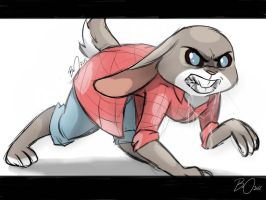 Going savage - Judy Hopps by DangerMask