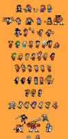 Megaman-style Negima Sprites 2 by TheBigBoo