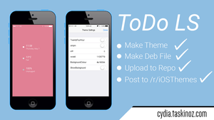 ToDo LS - A ToDo List styled widget for iOS by taskinoz