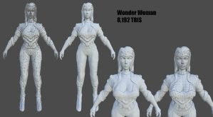 Wonder Woman Marble by PyrZern