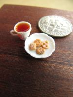 Danish Cookies Tea set 1-12 by Snowfern
