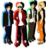 The Homestuck Boys by aua1000