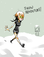 I LOVE SNOW by Krooked-Glasses
