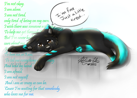 Just a Little Tired w/ Speed Paint by MaeMusicMelody