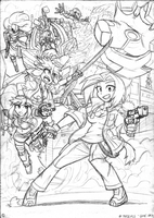 MaDevils: The Game - Game Art Sketch by FrancoTieppo
