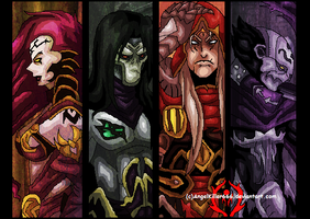 Darksiders the Four Riders by AngelKiller666