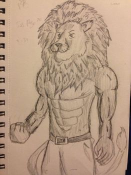 Nemean lion drawing - photo#3