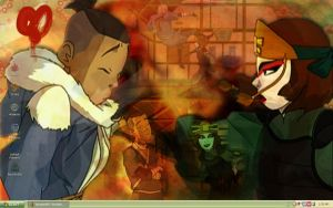 DESKTOP - Sokka and Suki by Penbee-of-Treewood
