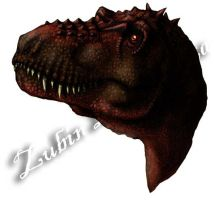 Adult female tyrannosaurus head study by amorousdino