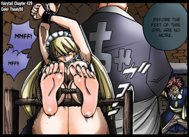 Fairytail 429 Lucy's sole tickle torture? by Theahj90