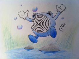 Old pokemon drawing no.1 Poliwhirl by Randomous