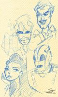 Rocketeer Sketches by bluespottedfrog