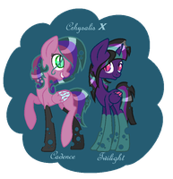 DTA contest :Chrysalis X Princesses pt1 AUTOBOUGHT by FireFlarePony