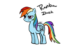 Rainbow Dash by queenzion