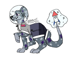 Astronaut Themed Chaos Adoptable! Auction- OPEN! by Toquenfrier